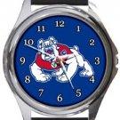 Fresno State Bulldogs Round Metal Watch