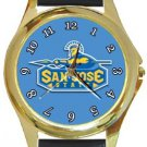 San Jose State University Spartans Gold Metal Watch