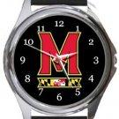 Maryland Terrapins Round Metal Watch