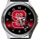 North Carolina State Wolfpack Round Metal Watch
