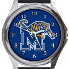The University of Memphis Tigers Round Metal Watch