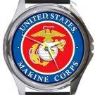 US Marine Corps USMC Round Metal Watch