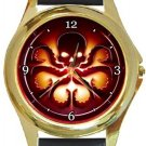 Hydra Gold Metal Watch