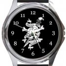 Death Or Glory Round Metal Watch