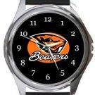 Oregon State Beavers Round Metal Watch