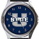 Utah State Aggies Round Metal Watch