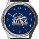 University of Texas San Antonio UTSA Roadrunners Round Metal Watch