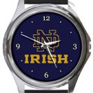 University of Notre Dame Fighting Irish Round Metal Watch