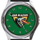 UAB Blazers Round Metal Watch