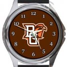 Bowling Green Falcons Round Metal Watch