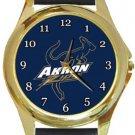 Akron Zips Gold Metal Watch