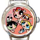 Powerpuff Girls Round Italian Charm Watch