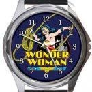 Wonder Woman Round Metal Watch