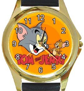 Tom & Jerry Gold Metal Watch
