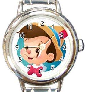 Pinocchio Round Italian Charm Watch