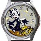 Funny Felix Round Metal Watch