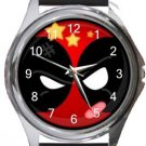 Funny Deadpool Round Metal Watch