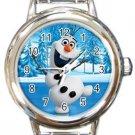 Olaf Frozen Round Italian Charm Watch