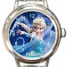 Queen Elsa Frozen Round Italian Charm Watch