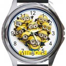 Love Minions Round Metal Watch
