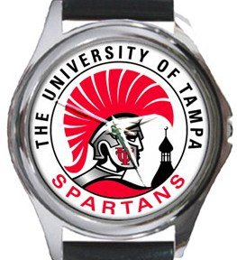 University of Tampa Spartans Round Metal Watch