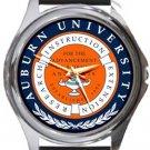 Auburn University Logo Round Metal Watch