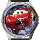Cars Funny Lightning McQueen Round Metal Watch