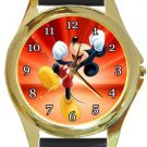 Mickey Mouse Yipee Gold Metal Watch