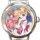 Sailor Moon and Sailor Chibi Moon Round Italian Charm Watch