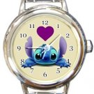 From Stitch With Love Round Italian Charm Watch