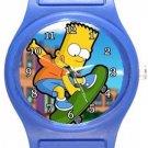 Bart Simpson Blue Plastic Watch