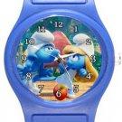 Smurf and Smurfette Blue Plastic Watch