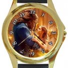 Beauty and the Beast Gold Metal Watch