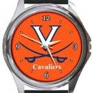 Virginia Cavaliers Round Metal Watch