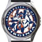 The University of Virginia Round Metal Watch