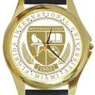 Florida International University Logo Gold Metal Watch