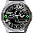 Justice League Round Metal Watch