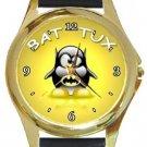 Super Cute Batman Penguin Gold Metal Watch