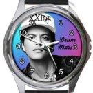 Bruno Mars Round Metal Watch