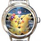 Pikachu Love Round Italian Charm Watch