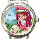 Strawberry Shortcake Round Italian Charm Watch