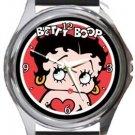 Betty Boop Round Metal Watch