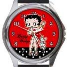 Sexy Betty Boop Round Metal Watch