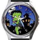 Betty Boop Halloween Round Metal Watch