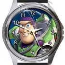 Super Cool Buzz Lightyear Toy Story Round Metal Watch