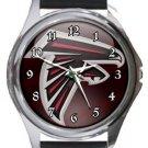 Atlanta Falcons Round Metal Watch