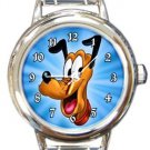 Pluto Round Italian Charm Watch