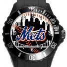 New York Mets Plastic Sport Watch In Black