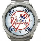 New York Yankees Baseball Sport Metal Watch