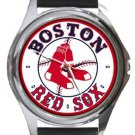 Boston Red Sox Round Metal Watch